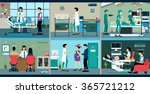 pregnant women who are in the...   Shutterstock .eps vector #365721212