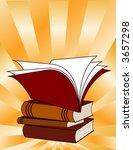 books  stack of books on gold... | Shutterstock .eps vector #3657298
