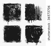 four grunge textures. you'll... | Shutterstock .eps vector #36573706