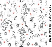 hand drawn seamless pattern... | Shutterstock .eps vector #365740316