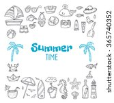 cute hand drawn summer time... | Shutterstock .eps vector #365740352