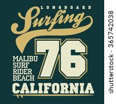 surfing t shirt graphic design. ... | Shutterstock .eps vector #365742038