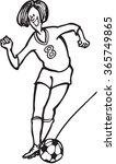 female soccer player cartoon | Shutterstock . vector #365749865
