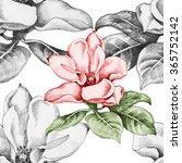 seamless monochrome pattern... | Shutterstock . vector #365752142