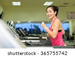 fitness woman working out with... | Shutterstock . vector #365755742