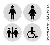 toilet  sign | Shutterstock .eps vector #365759186