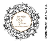 romantic invitation. wedding ... | Shutterstock .eps vector #365760116