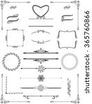 ornamental victorian frames... | Shutterstock .eps vector #365760866
