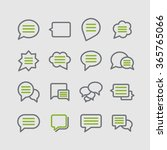 dialogue icons | Shutterstock .eps vector #365765066