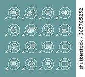 speech pictogram   Shutterstock .eps vector #365765252