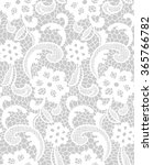 lace pattern with floral motifs.... | Shutterstock .eps vector #365766782