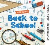 welcome back to school ... | Shutterstock .eps vector #365778332