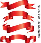 red ribbon banners | Shutterstock .eps vector #36578425