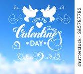 valentines day  handdrawn...   Shutterstock .eps vector #365787782