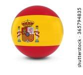 spanish flag ball   flag of... | Shutterstock . vector #365794835