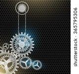 metal cogs wheels black color... | Shutterstock .eps vector #365795306