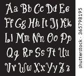alphabet set. uppercase and... | Shutterstock .eps vector #365798195