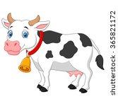 cartoon happy cartoon cow | Shutterstock . vector #365821172