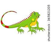 cartoon cute lizard   Shutterstock . vector #365821205