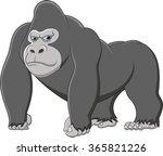 happy gorilla cartoon   Shutterstock . vector #365821226