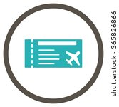 airticket vector icon. style is ... | Shutterstock .eps vector #365826866