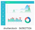 infographic dashboard template... | Shutterstock .eps vector #365827526