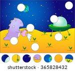 friendly alien watering the... | Shutterstock .eps vector #365828432