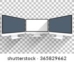 computer monitor isolated.... | Shutterstock .eps vector #365829662