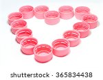heart shape pink bottle caps...   Shutterstock . vector #365834438