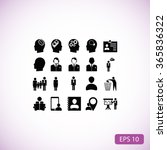 business man icons | Shutterstock .eps vector #365836322