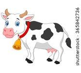 cartoon happy cartoon cow | Shutterstock .eps vector #365842736