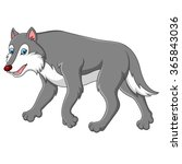 cute cartoon wolf | Shutterstock . vector #365843036