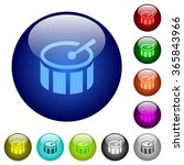set of color drum glass web...