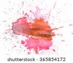watercolor abstract hand... | Shutterstock . vector #365854172