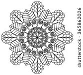 mandala. vintage round ornament ... | Shutterstock .eps vector #365862026