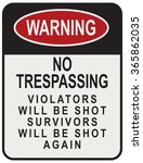 No Trespassing Violators Will...