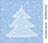 silhouette of christmas tree... | Shutterstock .eps vector #365865362