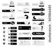 black business start up buttons ... | Shutterstock .eps vector #365866685
