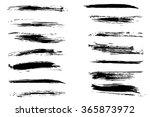 vector set of black grungy... | Shutterstock .eps vector #365873972