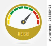 speedometer or tachometer icon. ... | Shutterstock . vector #365880416