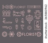 flower shop icon and lettering... | Shutterstock .eps vector #365883962