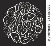 valentines day card design....   Shutterstock .eps vector #365887232