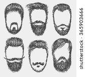 vector hand drawn hipster beard ... | Shutterstock .eps vector #365903666