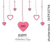 decoration hearts. weeding... | Shutterstock .eps vector #365910746
