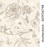 vintage floral seamless pattern | Shutterstock .eps vector #365926748