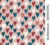 seamless pattern with scratched ... | Shutterstock .eps vector #365933492