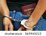 arrested filipino citizen with... | Shutterstock . vector #365943212