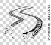 tire tracks | Shutterstock .eps vector #365943788