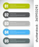 infographic design elements for ... | Shutterstock .eps vector #365953292