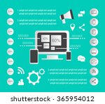 it infographic elements vector... | Shutterstock .eps vector #365954012